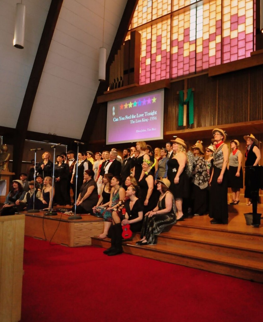 Rainbow Chorus singing at Oscar Concert
