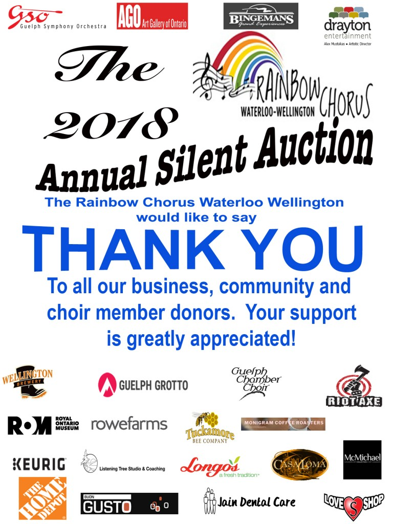 Silent Auction thank you poster